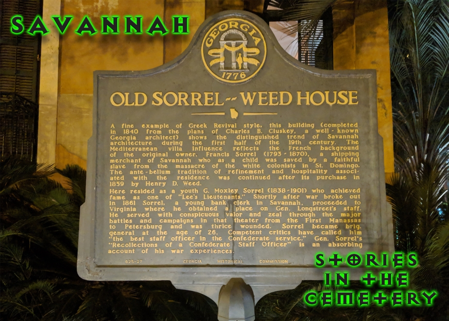 Stories at the Sorrel-WeedHouse