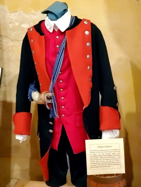 Middleton's Regiment uniform. ca 1760 (replica)